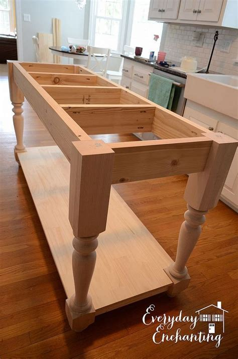 how to build a kitchen island table build your own diy furniture style kitchen island
