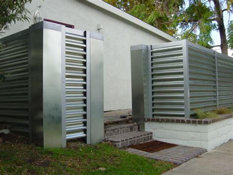 corregated steel fence modern orange county by