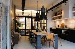 Kitchen Island Pot Rack Lighting Ideeen Voor Een Industrieel Interieur