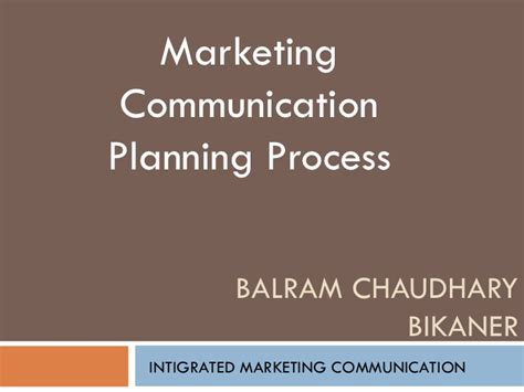 communication plan template ppt marketing communication planning process