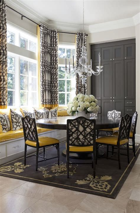 Grey And Yellow Dining Room Ideas by Yellow And Gray Dining Rooms Transitional Dining Room Tobi Fairley