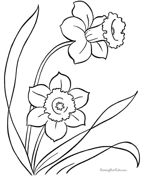 coloring pages of animals and flowers free coloring sheets of flowers 016