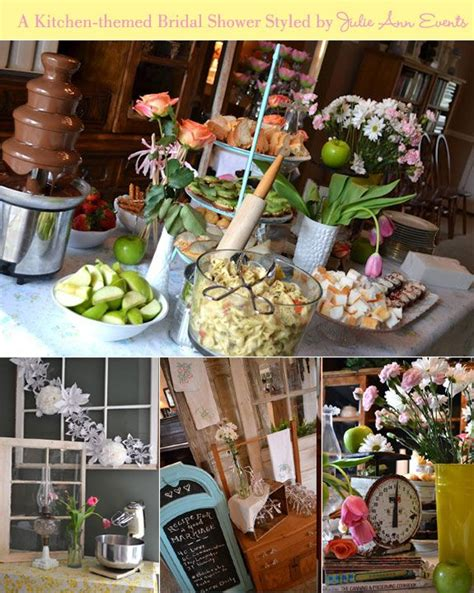 kitchen themed bridal shower ideas table decorations for a kitchen themed bridal shower