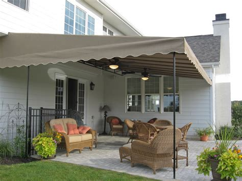 canvas patio awnings stationary canopies kreider s canvas service inc