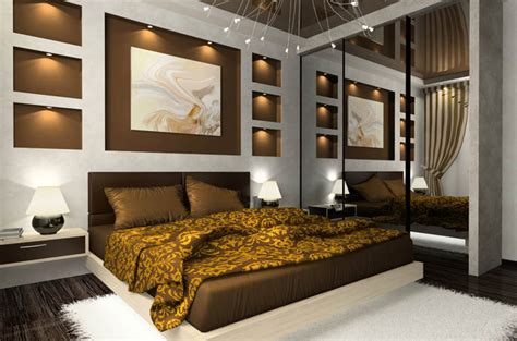 gold and brown bedroom fashion interior decorating