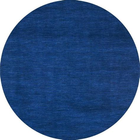 blauer runder teppich blue fusion wool rug 8 free shipping today