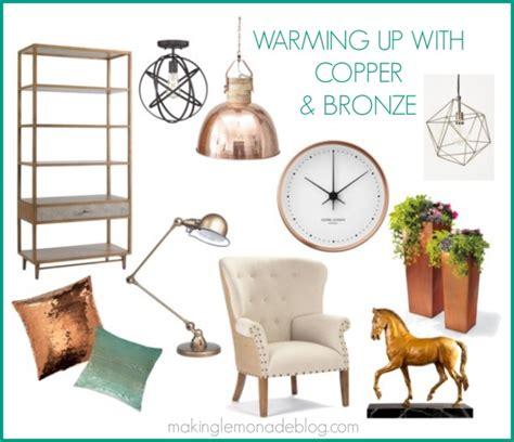 bronze home decor go for the gold and silver bronze copper making
