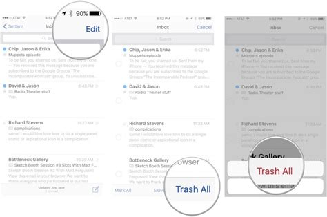 yahoo email going to trash iphone how to trash all your email on your iphone ipad or ipod