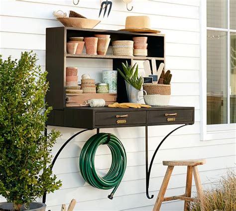 pottery barn potting bench wall mount potting station pottery barn