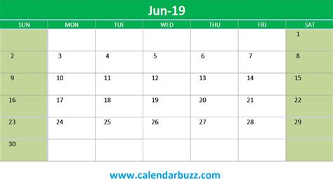 Free 2019 Excel Printable Calendar Monthly Templates Calendarbuzz 2019 Monthly Calendar Template Excel