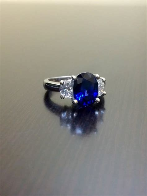 ceylon blue sapphire platinum diamond wedding ring art