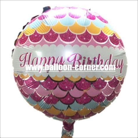Balon Foil Bulat Wedding Happily After Ukuran 18 balon foil bulat happy birthday motif pola ikan balloon corner