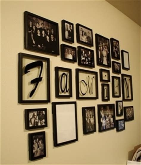 family picture frame ideas wall hanging collage picture frames foter