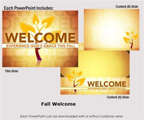 welcome powerpoint template fall seasonal powerpoints childrenssermons dynamic