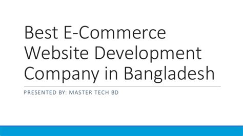 ecommerce website design development company best e commerce website development company in bangladesh