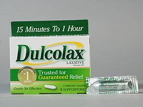 Dulcolax 10 Suppos dulcolax bisacodyl rectal uses side effects