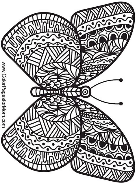 advanced butterfly coloring pages animals 108 advanced coloring pages