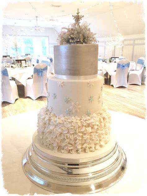 Winter Wonderland Wedding Cake   Cake by Sadie Smith