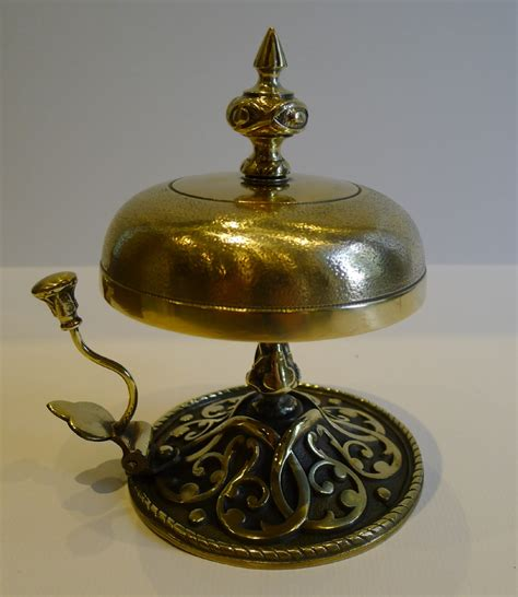 Desk Bell large antique brass desk counter bell c1880