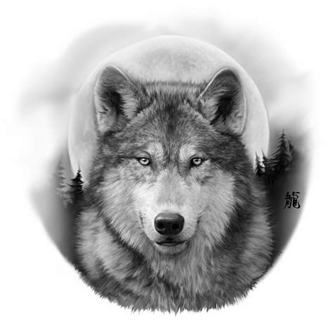 collection of 25 realistic wolf face tattoo