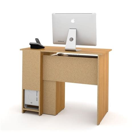 Small Wooden Computer Desks Bestar Basic Small Wood Computer Desk In Cappuccino Cherry 90400 1168