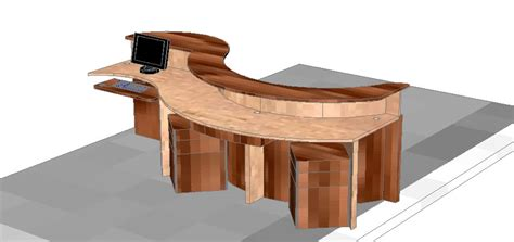 3d furniture draing reception furniture 3d in autocad drawing bibliocad