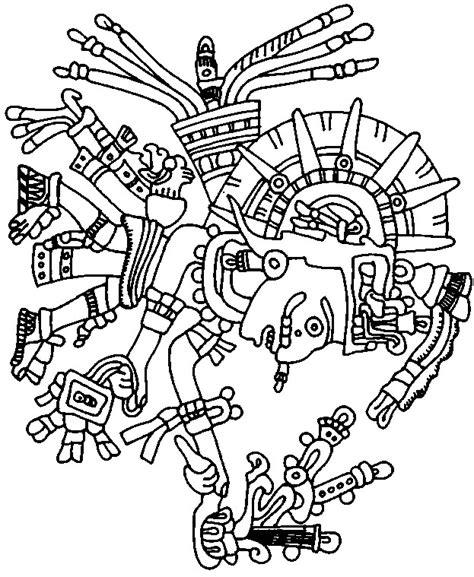 aztec designe colouring pages