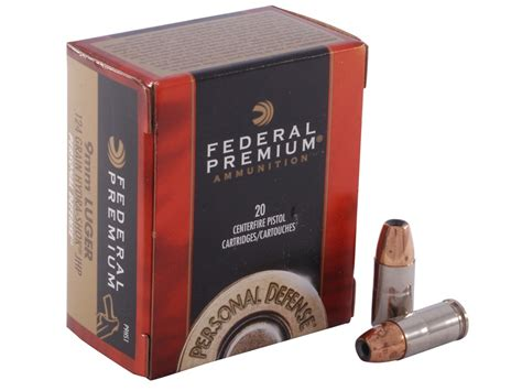 federal premium personal defense ammo 9mm luger 124 grain