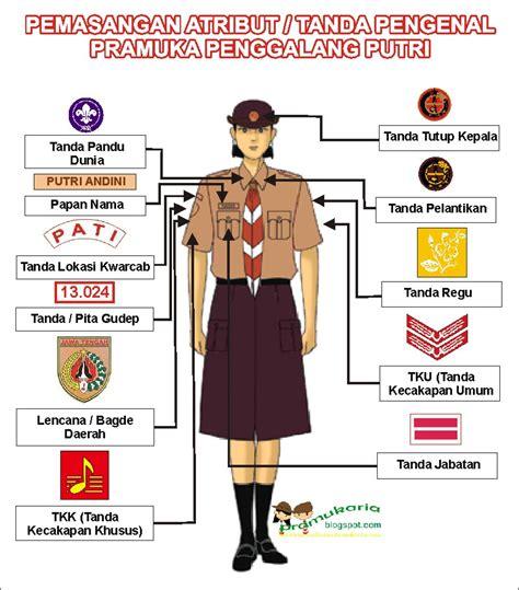 Atribut Baju Pramuka Putra pemasangan atribut tanda pengenal pramuka penggalang