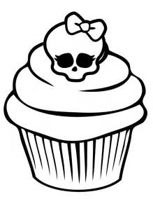 printable skull coloring pages monster skullette cupcake coloring coloring book