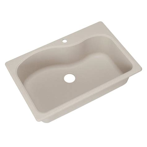 Frankeusa Dual Mount Composite Granite 33x22x9 1 Hole Dual Mount Kitchen Sink