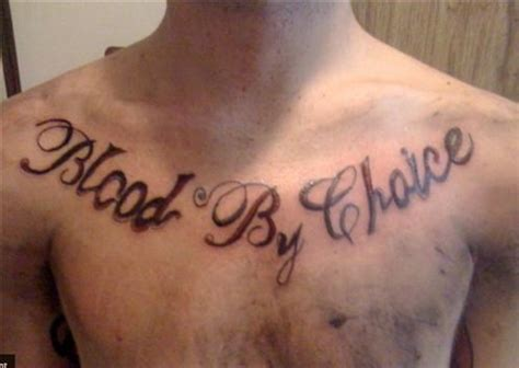 bloods gang tattoos blood by choice cool tattoos