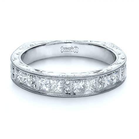 custom princess cut s wedding band 1134