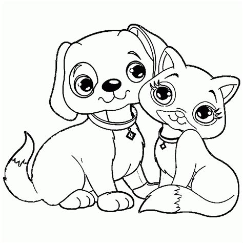 printable coloring pages of cats and dogs cat and dog pictures to colour driverlayer search engine