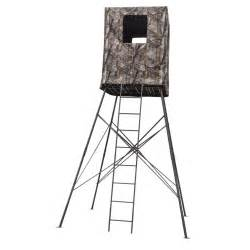 Elevated Deer Blinds Big Dog 14 Guard Tower Quad Pod With Enclosure 649092