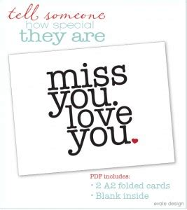 miss you card templates deployment idea 5 quot i miss you quot cards singing through
