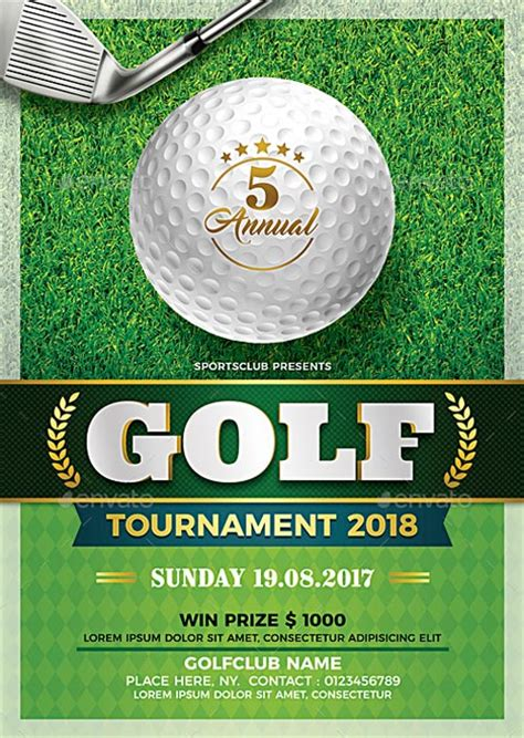 golf cart tournament cards template golf tournament flyer template flyer templates
