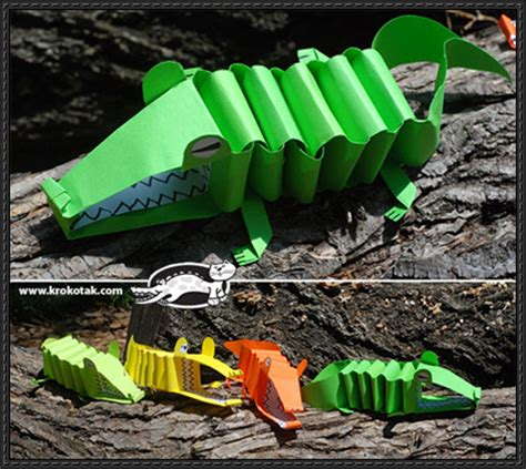 How To Make A Paper Crocodile - how to make papercraft crocodile
