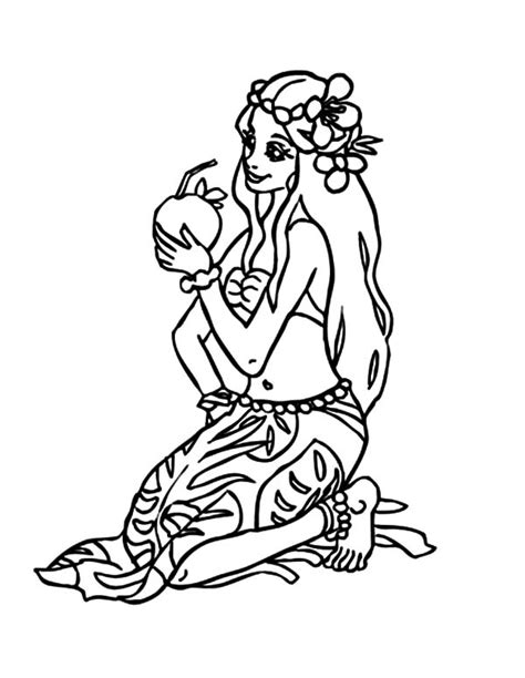 hawaiian princess coloring pages hawaiian hula coloring pages