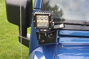 Jeep Wrangler Windshield Light Mount Lower Front A Pillar Auxiliary Light Mounts Jeep Jk Wrangler