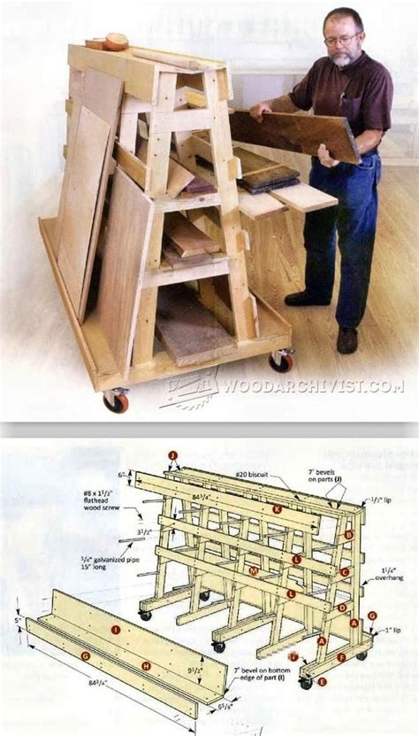 lumber storage rack ideas  pinterest wood