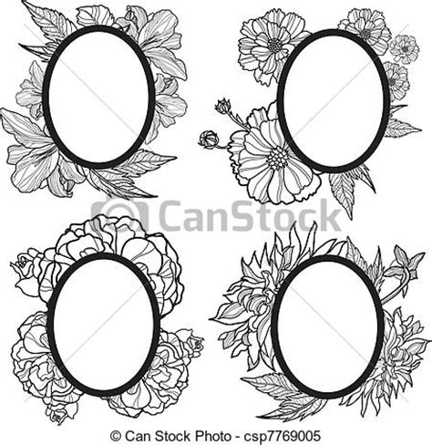 clipart vector of vector vintage romantic frame design
