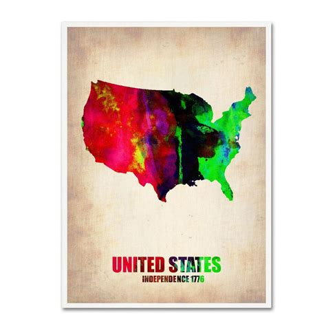 watercolor tattoo united states trademark 24 in x 18 in united states