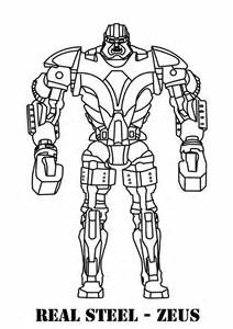 real steel robots coloring pages for kids real steel
