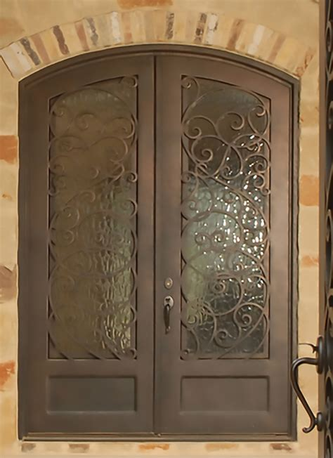 classic wrought iron door with scrollwork monarch custom