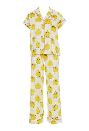 Mallory Sleeve Pajamas 6 image for chicken pj set from chicken