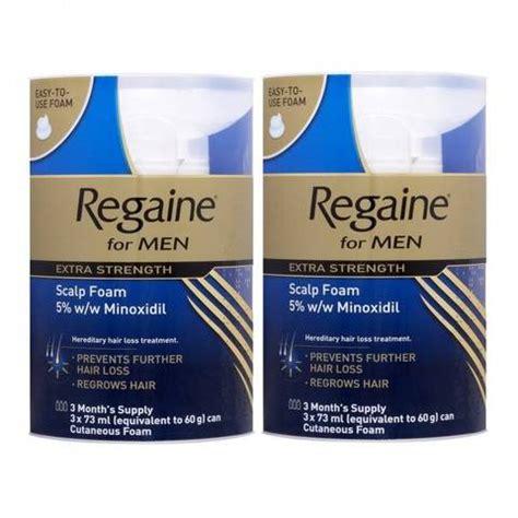 10 minoxidil for men regaine for men extra strength scalp foam 2 x 3 x 73ml