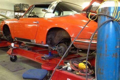 porsche 911 interior restoration porsche 911 targa restoration on chassis jig