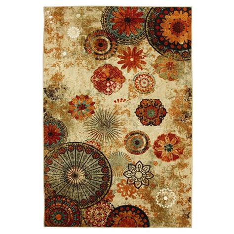 caravan medallion multi area rug shaggy chic and printed rugs