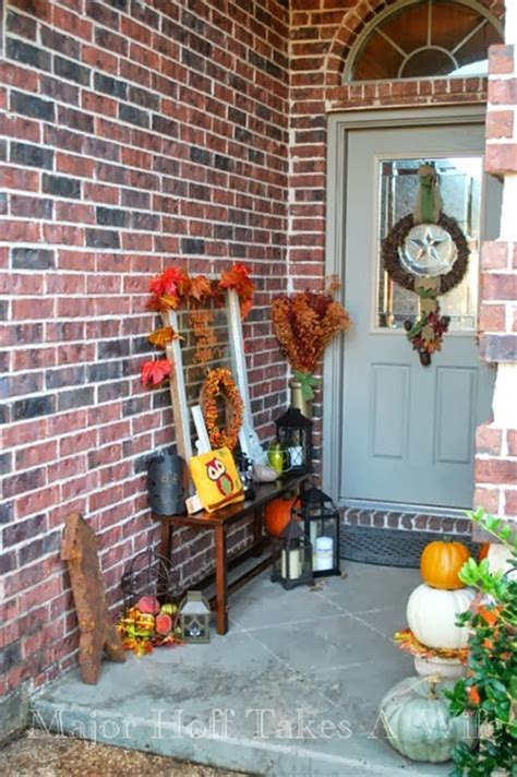 Narrow Porch Decorating Ideas by 25 Fall Porch Tours Outdoor Fall Decorating